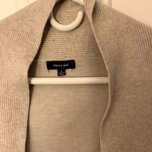 Beige cardigan sweater